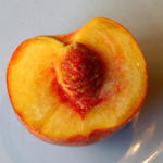 On Finding a Peach Left for My Morning Delivery (from 8/04)
